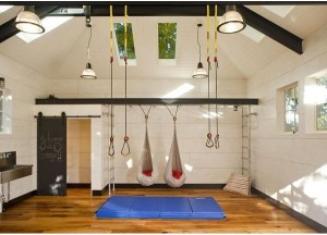 Garage converted to a Gym
